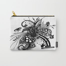 """Pen and ink drawing """"ROSE"""", rose art, ink art, wall art, black and white art6 Carry-All Pouch"""