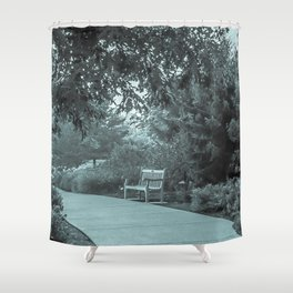 Lone Bench Shower Curtain