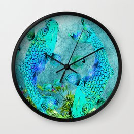 KOI POND ADVENTURE Wall Clock