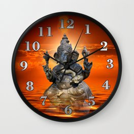 Elephant God Ganesha Wall Clock