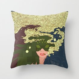 Heavy Smoke Throw Pillow