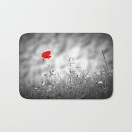 One Poppy to Remember Bath Mat