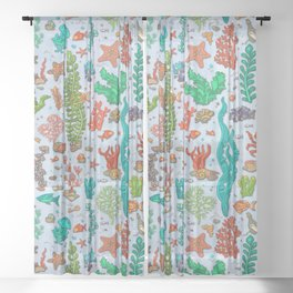 Under the Sea Life Sheer Curtain