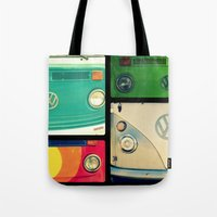 vw Tote Bags featuring VW Collage by RDelean