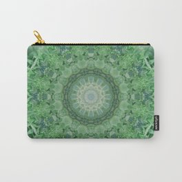 Ornamented mandala in green and blue colors Carry-All Pouch