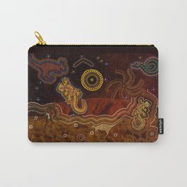Desert Heat - Australian Aboriginal Art Theme Carry-All Pouch