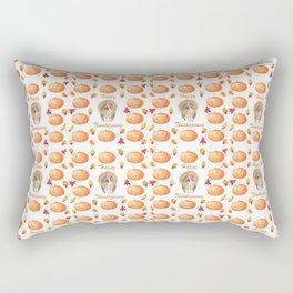 Watercolour Pumpkin Turkey Pattern Happy Thanksgiving Rectangular Pillow