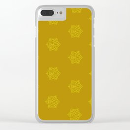 Snowflake I Yellow Clear iPhone Case