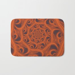 Fractal Web in Halloween Orange Bath Mat