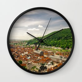 Heidelberg from Above Wall Clock