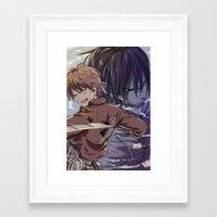 snk Framed Art Prints featuring SnK-Eren by Gin-Uzumaki