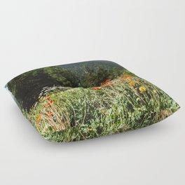 Mountain garden Floor Pillow