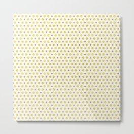 Yellow Delicate Flowers Metal Print