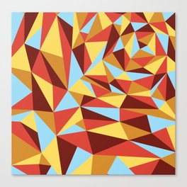 Triangle sunset hues Canvas Print