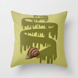 Trail of Snail Throw Pillow