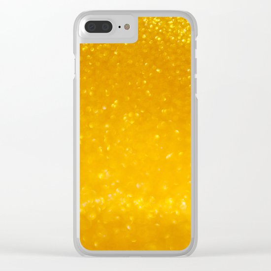 Golden lights Clear iPhone Case