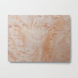 Unique eye maple wood design Metal Print