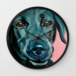 Black Labrador Polly Wall Clock