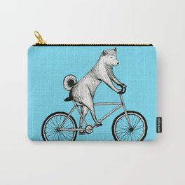 Shiba Inu Riding a Bicycle Carry-All Pouch