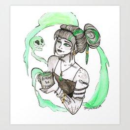 Coffee Witch Art Print