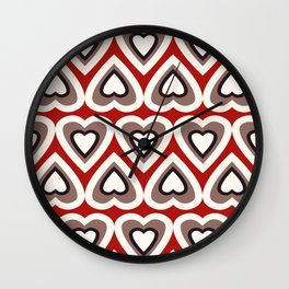 Strawberry and Chocolate Cream Love Hearts Wall Clock