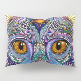 Mystic Psychedelic Cat Pillow Sham