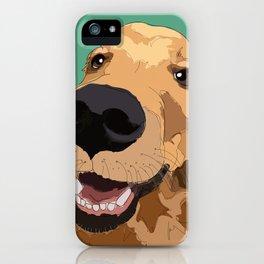 Golden Retriever-Don't leave me! iPhone Case