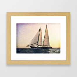 big sailing Framed Art Print