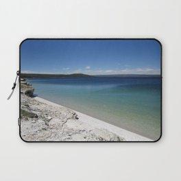 Beach at Yellowstone National Park Blue Sky Laptop Sleeve