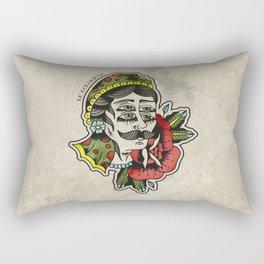 Old School Tattoo Vierge4Yeux Rectangular Pillow