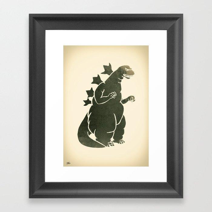 Godzilla - King of the Monsters Framed Art Print