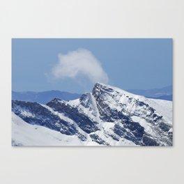 """Veleta mountain"". Aerial photography Canvas Print"