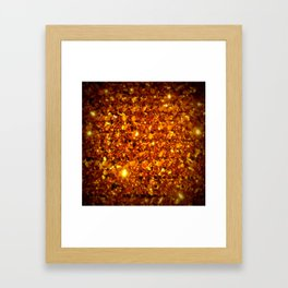 Copper Sparkle Framed Art Print