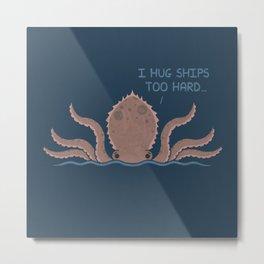 Monster Issues - Kraken Metal Print