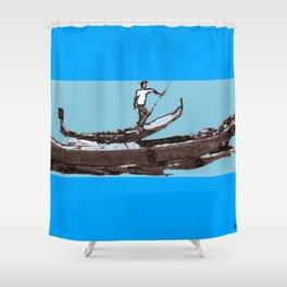 GONDOLIER         by Kay Lipton Shower Curtain