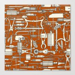 fiendish incisions rust Canvas Print