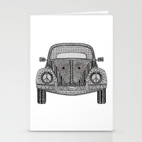 volkswagon Stationery Cards featuring Tangled VW Bug by Cherry Creative Designs