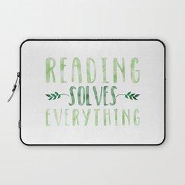 Reading Solves Everything (Green) Laptop Sleeve