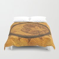 sun and moon Duvet Covers featuring Sun Moon Star by Geni