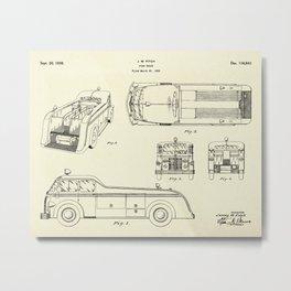 Fire Truck-1939 Metal Print