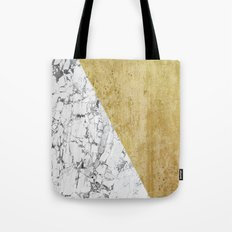 Marble vs GOld Tote Bag