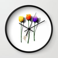 tulip Wall Clocks featuring Tulip by Det Tidkun
