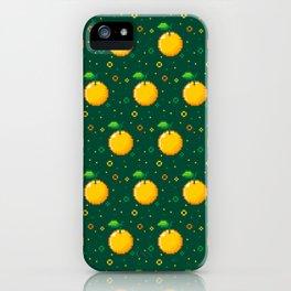 Pixel Oranges - Green iPhone Case