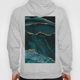 Teal & Gold Agate Texture 02 Hoody