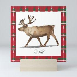Holiday Reindeer Mini Art Print