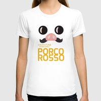 hayao miyazaki T-shirts featuring Porco Rosso - Miyazaki - Alternative Cartoon Poster by Stefanoreves