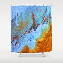 Sky Marble Shower Curtain