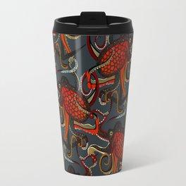 octopus ink gunmetal Travel Mug