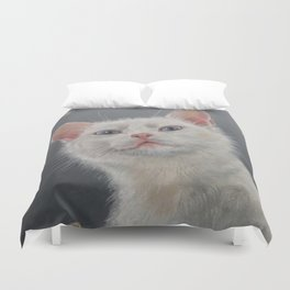 Night cat and moon Duvet Cover