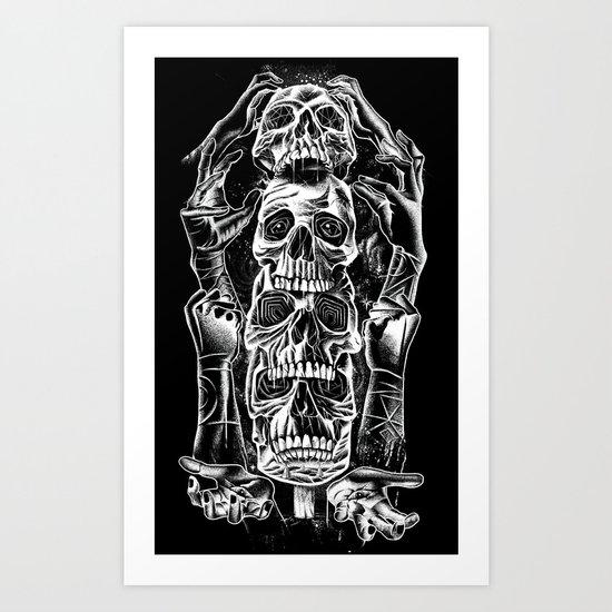 Skull Totem Art Print